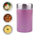 Insulated Stainless Steel Food Flask - 450ml (Blush)
