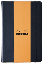 Webnotebook A5 Blank with Elastic Closure (Black)