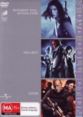 Resident Evil - Apocalypse / Hellboy / Doom - 3 DVD Collection (3 Disc Set) on DVD
