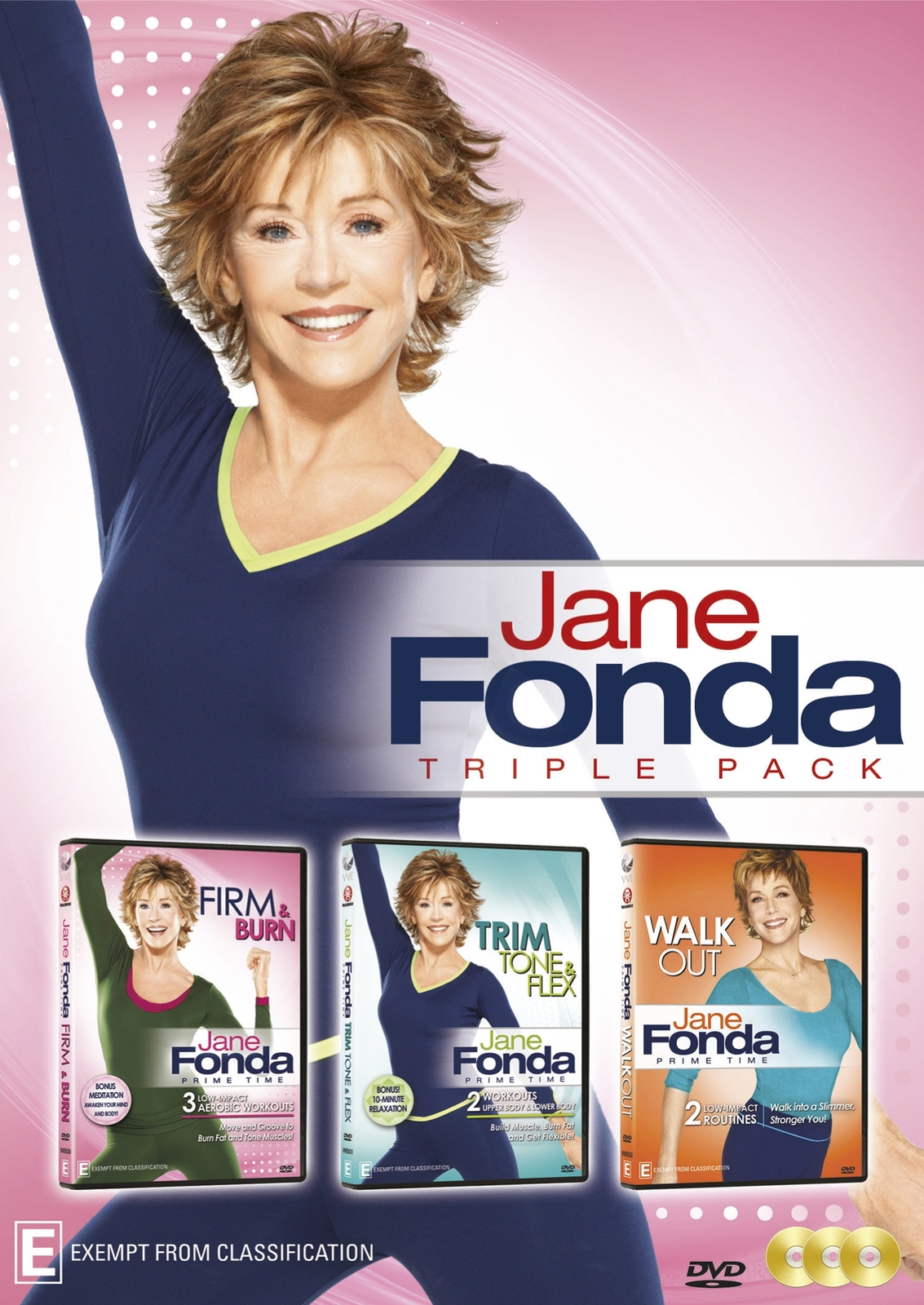 Jane Fonda Triple Pack on DVD image
