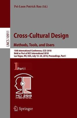 Cross-Cultural Design. Methods, Tools, and Users image