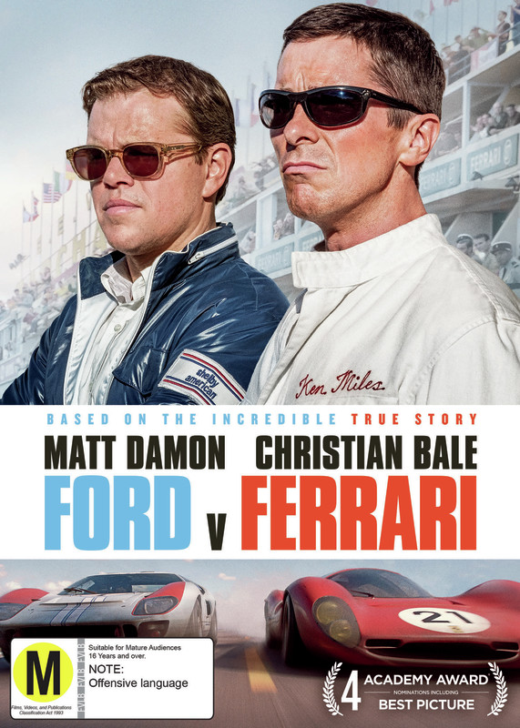 Ford v Ferrari on DVD