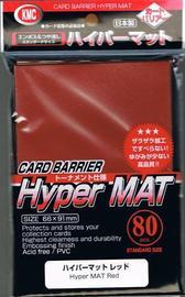 KMC: Full Sized Hyper Matte Sleeves 80ct (Red)