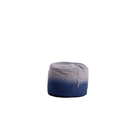 Croco Bean Bag Footstool - Gradient-Effect Denim Blue