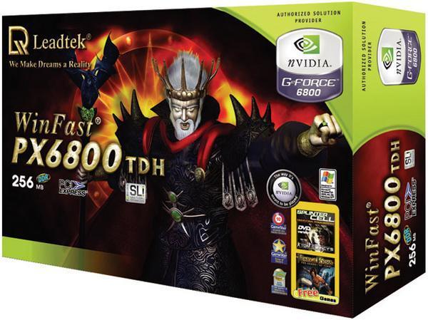 Leadtek Graphics Card WinFast PX6800 TDH 256MB SLI 6800 PCIE