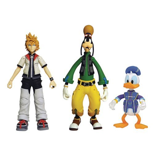 Kingdom Hearts: Select Action Figure 3-Pack - Roxas/Goofy/Donald