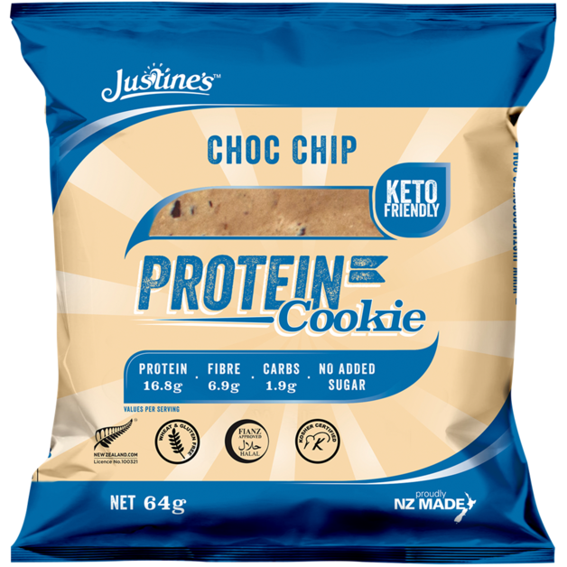 Justine's Protein Cookies - Chocolate Chip (Box of 12)
