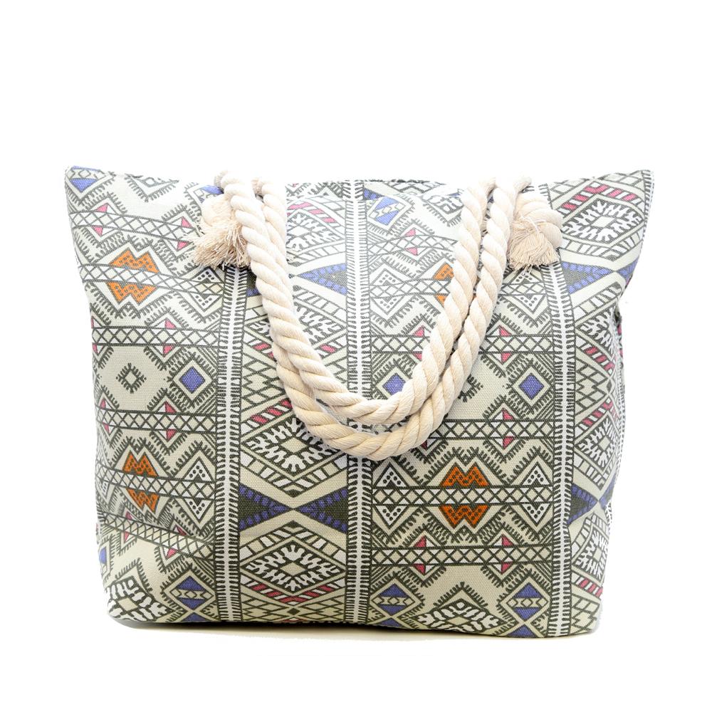 Short Story: Aztec Bag - White image