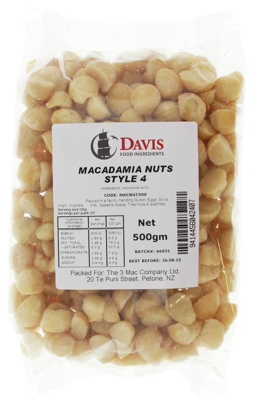 Macadamia Nut Halves (500g)