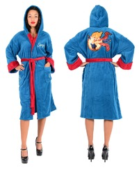 DC Comics Bombshells - Supergirl Fleece Bathrobe