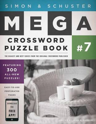 Simon & Schuster Mega Crossword Puzzle Book #7 by John M Samsonm image