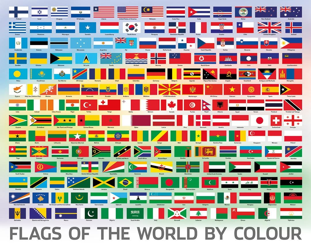 Puzzlebilities: 500 Piece Puzzle - Flags of the World image