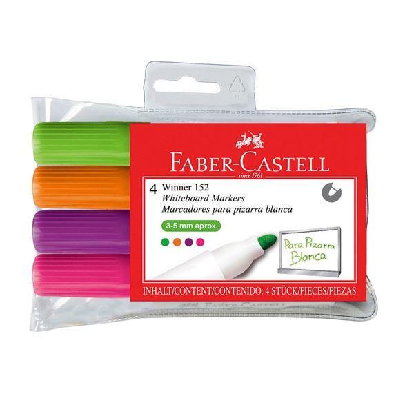 Faber-Castell: Whiteboard Marker 152 Bullet Fluro (Wallet of 4)