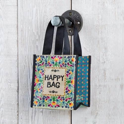 Natural Life: Recyclable Gift Bag - Yellow/Turquoise Happy Bag (Small)