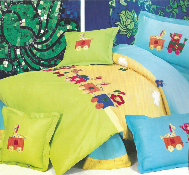 Single Bedding Set - Animal Train