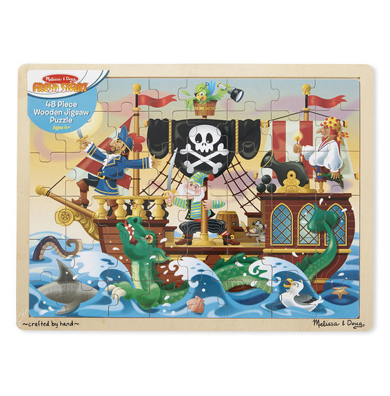 Melissa & Doug: Pirate Adventure Jigsaw Puzzle - 48 Pieces image