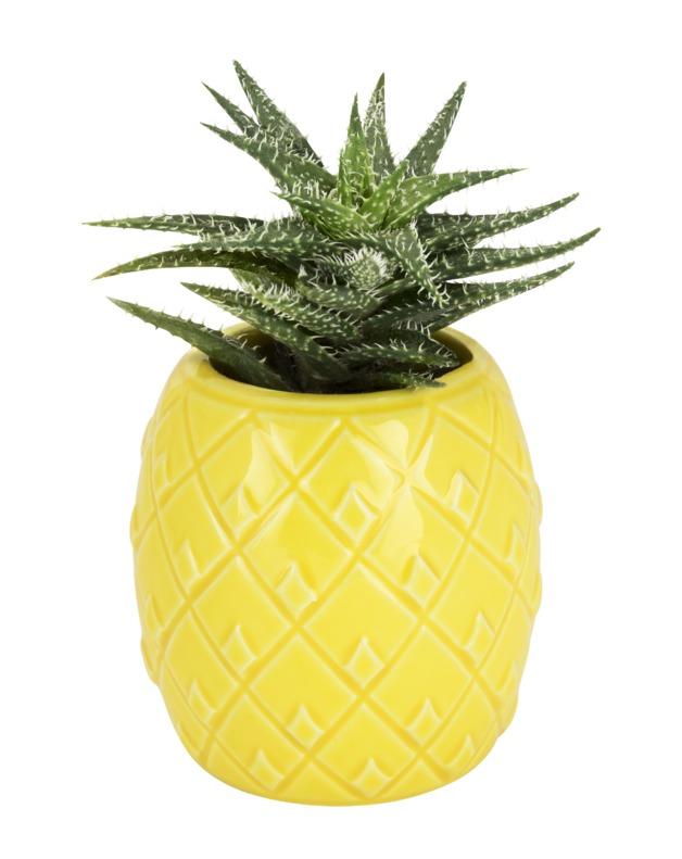 TrueZoo: Pineapple Planter - Yellow (Small)