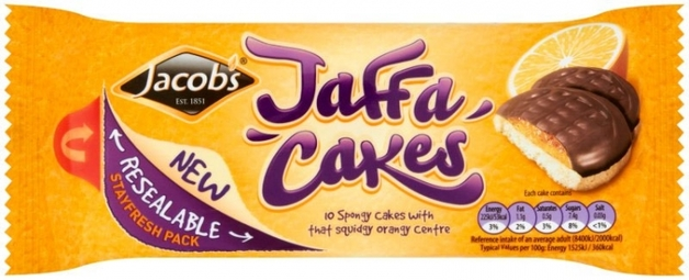 Jacob's Jaffa Cakes 147g (Resealable 10 Pack)