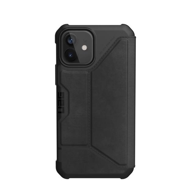 UAG Metropolis for iPhone 12 / 12 Pro - Black Leather