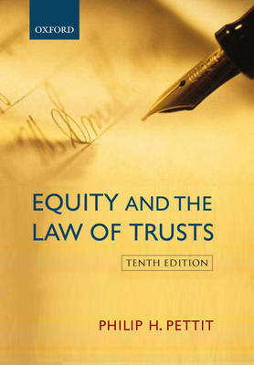 Equity and the Law of Trusts by Philip H. Pettit image
