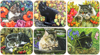 Cats Coaster (Set of 6)