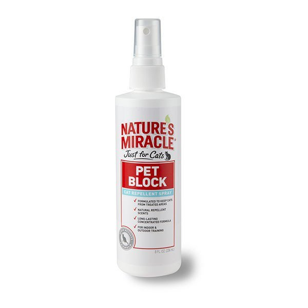 Nature's Miracle Pet Block Repellent Spray Just For Cats image