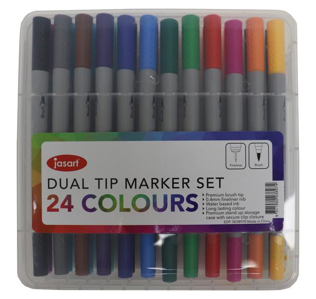 Jasart: Dual Tip Marker - Set of 24