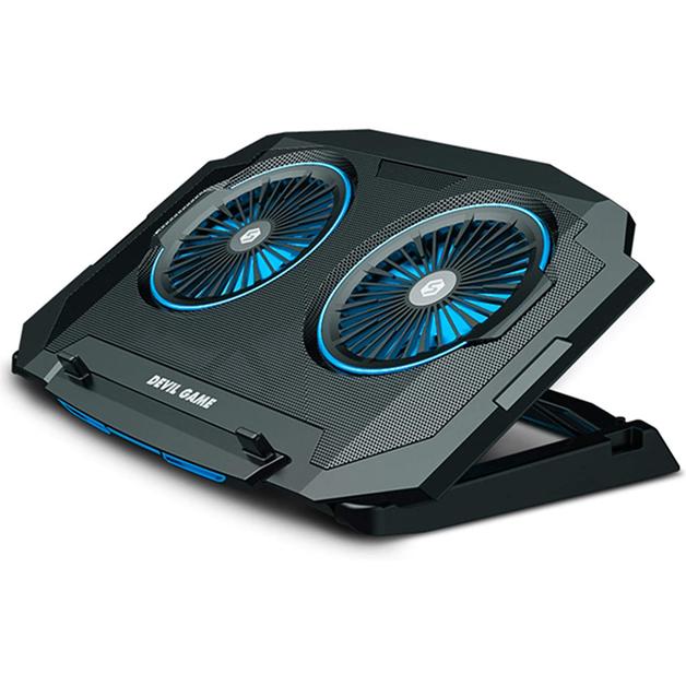 Cooling Fan Laptop Stand Black/Blue