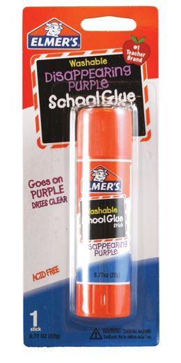 Elmers Disappearing Purple School Glue Stick 22g