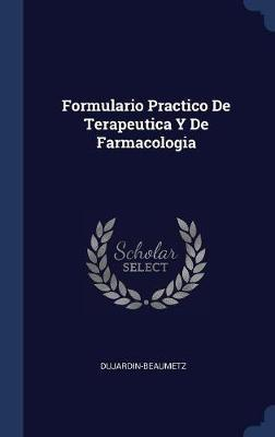 Formulario Practico de Terapeutica y de Farmacologia image