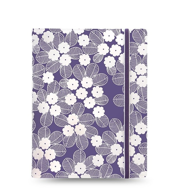 Filofax: A5 Impressions Notebook - Purple + White