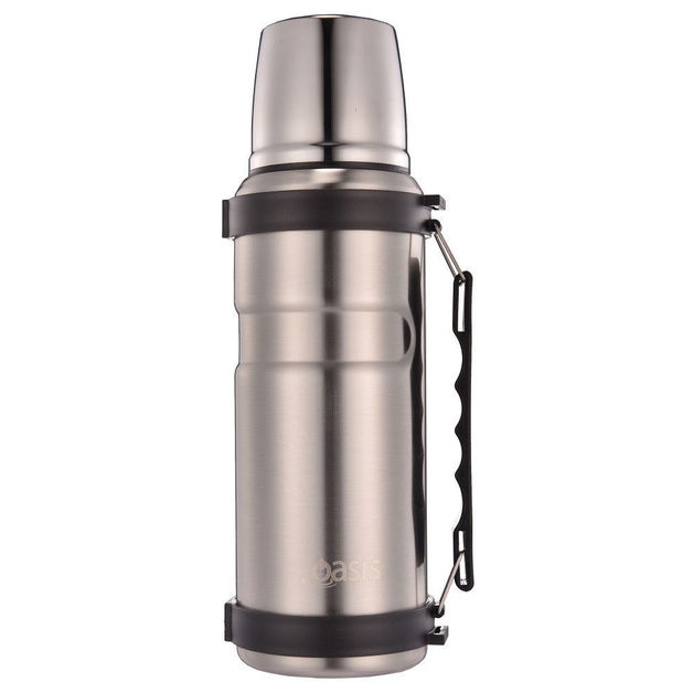 Oasis Stainless Steel Insulated Vacuum Flask - Silver (1L)