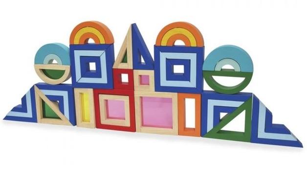 Colourful Block - Wooden Playset (45pcs)