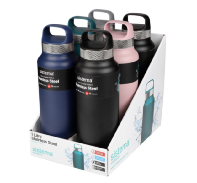 Sistema Hydrate Stainless Steel Bottle (1L)
