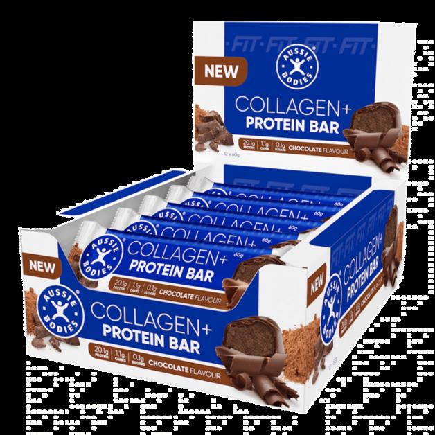 Aussie Bodies Collagen Protein Bar - Chocolate (Box of 12)