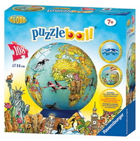 Ravensburger 108 Piece Puzzleball - Children's Globe