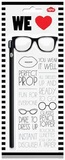 Mens Glasses Pencil Topper with Pencil