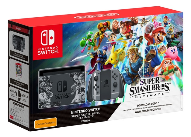 Nintendo Switch Super Smash Bros Ultimate Edition Console