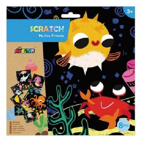 Avenir: Scratch Art Kit - My Sea Friends