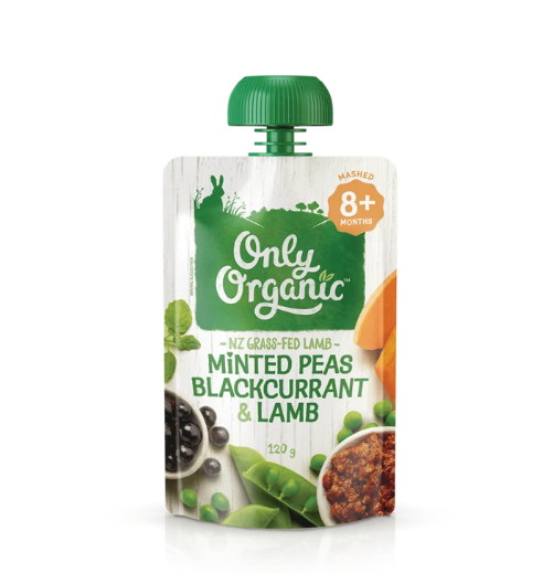 Only Organic: Stage 3 Peas Blackcurrant & Lamb (6 x 120g) image
