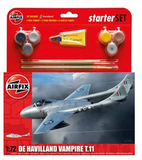 Airfix De Havilland Vampire T11 Starter Set 1/72 Model Kit