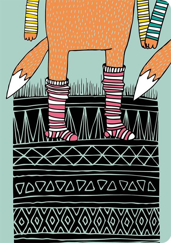 Putinki: Fox In Socks - A5 Ruled Notebook