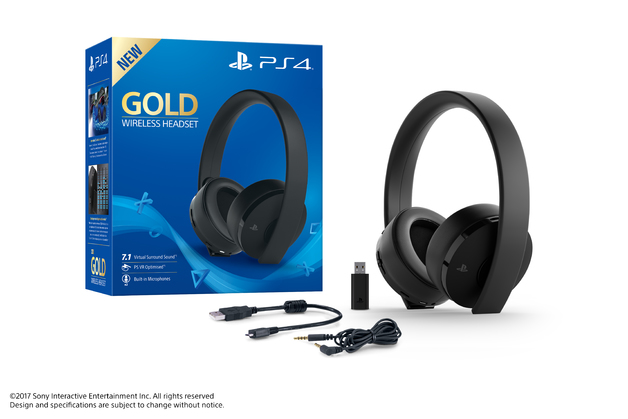 PlayStation Gold Wireless 7.1 Gaming Headset for PS4
