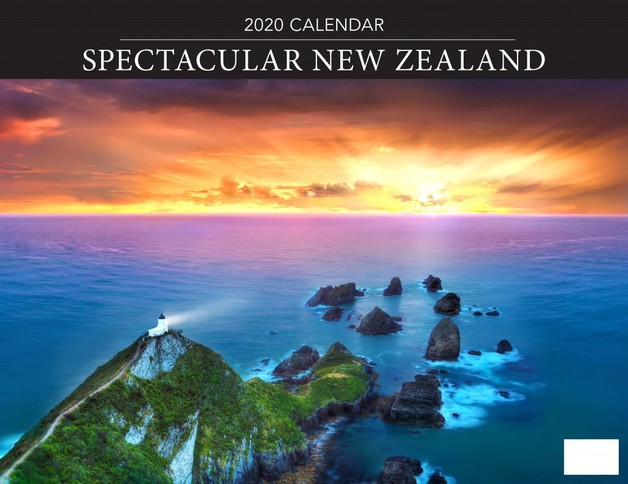 Spectacular New Zealand 2020 Horizontal Wall Calendar