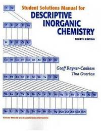 Descriptive Inorganic Chemistry: Student Solutions Manual by Geoffrey Rayner-Canham image