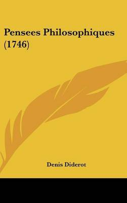Pensees Philosophiques (1746) by Denis Diderot image