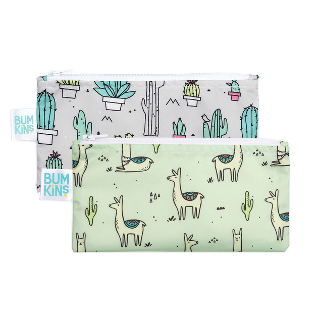 Bumkins: Small Snack Bag - Cacti/Llama (2 Pack)