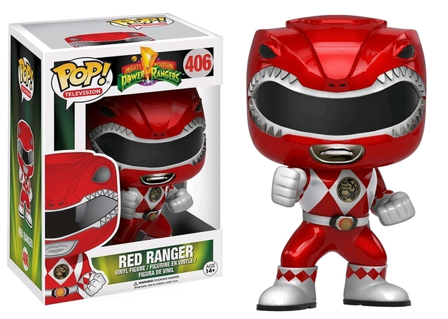 Power Rangers - Red Ranger (Metallic) Pop! Vinyl Figure