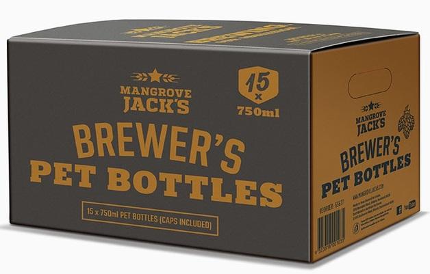Mangrove Jack's: Brewers Bottles - Plastic PET(15 x 750ml)