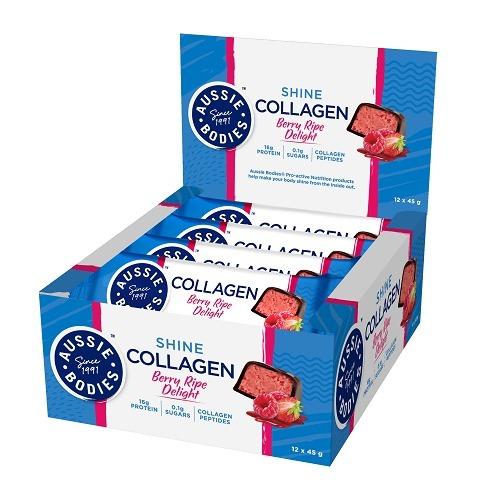 Aussie Bodies: Collagen - Berry Ripe Delight (12 x 45g)